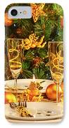 Christmas Dinner In Restaurant IPhone Case by Anna Om
