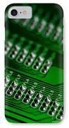 Circuit Board Bokeh IPhone Case