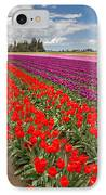 Colorful Field Of Tulips IPhone Case