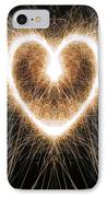Fiery Heart IPhone Case by Tim Gainey