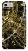 Golden Abstract Circle Fractal IPhone Case by Martin Capek