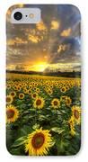 Golden Evening IPhone Case by Debra and Dave Vanderlaan