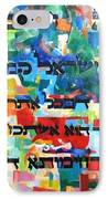 How Cherished Is Israel By G-d IPhone Case by David Baruch Wolk