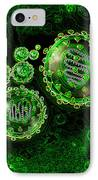 Illustration Of Sars Virus IPhone Case by Jim Dowdalls