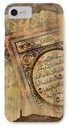 Islamic Calligraphy 037 IPhone Case