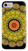 Kaleidoscope Ernst Haeckl Sea Life Series Triptych IPhone Case by Amy Cicconi