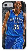 Kevin Durant IPhone Case by Taylan Apukovska