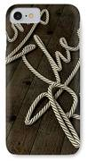 Learn The Ropes Rope IPhone Case by Allan Swart