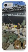 Marines Move Gear During An Embarkation IPhone Case by Stocktrek Images