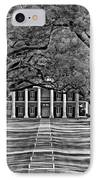 Oak Alley Bw IPhone Case by Steve Harrington