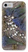 Poppy Seed Pods And Dried Lavender IPhone Case by Tim Gainey