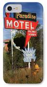 Route 66 - Paradise Motel IPhone Case by Frank Romeo