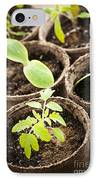 Seedlings Growing In Peat Moss Pots IPhone Case by Elena Elisseeva