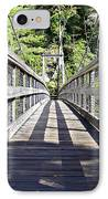 Suspension Bridge IPhone Case by Susan Leggett