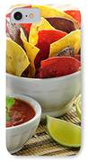 Tortilla Chips And Salsa IPhone Case by Elena Elisseeva