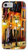 When The City Sleeps IPhone Case by Leonid Afremov