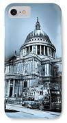 St Paul's Cathedral London Art IPhone Case by David Pyatt