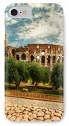 The Majestic Coliseum - Rome IPhone Case