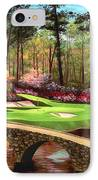 12th Hole At Augusta  IPhone Case by Tim Gilliland