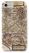 1630 Hondius Map Of Virginia And The Chesapeake IPhone Case by Paul Fearn