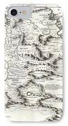 1690 Coronelli Map Of Ethiopia Abyssinia And The Source Of The Blue Nile IPhone Case by Paul Fearn