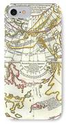 1772 Vaugondy Diderot Map Of Alaska The Pacific Northwest And The Northwest Passage IPhone Case by Paul Fearn