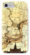 1777 Philadelphia Map IPhone Case by Bill Cannon