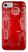 1921 Explosive Missle Patent Minimal Red IPhone Case