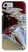 1928 Studebaker Hood Ornament 2 IPhone Case by Jill Reger