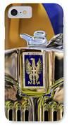 1929 Bianchi S8 Graber Cabriolet Hood Ornament And Emblem IPhone Case