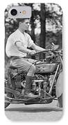 1930s Motorcycle Touring IPhone Case by Daniel Hagerman