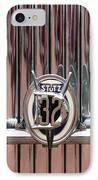 1932 Stutz Dv-32 Super Bearcat Emblem IPhone Case by Jill Reger