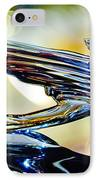 1938 Cadillac V-16 Hood Ornament 2 IPhone Case by Jill Reger