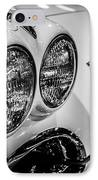 1950's Chevrolet Corvette C1 In Black And White IPhone Case