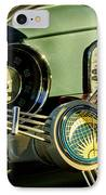 1956 Volkswagen Vw Bug Steering Wheel 2 IPhone Case by Jill Reger
