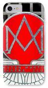 1957 Aston Martin Owner's Club Emblem IPhone Case by Jill Reger