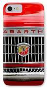 1967 Fiat Abarth 1000 Otr Grille IPhone Case by Jill Reger