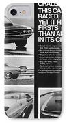 1970 Dodge Challenger T/a IPhone Case by Digital Repro Depot