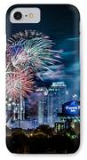 4th Of July Firework Over Charlotte Skyline IPhone Case