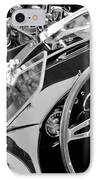 Ac Shelby Cobra Engine - Steering Wheel IPhone Case by Jill Reger