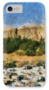 Acropolis And Village Of Lindos IPhone Case by George Atsametakis