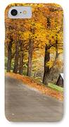 Autumn Road IPhone Case by Brian Jannsen