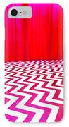 Black Lodge IPhone Case by Luis Ludzska