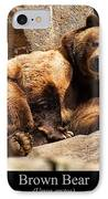 Brown Bear IPhone Case by Chris Flees