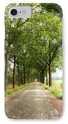 Cobblestone Country Road IPhone Case by Carol Groenen