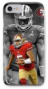 Colin Kaepernick 49ers IPhone Case by Joe Hamilton