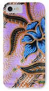 Colorful Batik Cloth Fabric Background  IPhone Case by Prakasit Khuansuwan