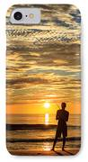 Fishing Silhouette IPhone Case by Aoshi Vn