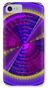 Futuristic Tech Disc Fractal Flame IPhone Case by Keith Webber Jr