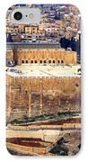 Jerusalem From Mount Olive IPhone Case by Thomas R Fletcher